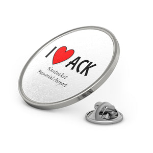 ACK Heart Metal Pin