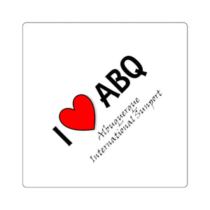 ABQ Heart Square Stickers