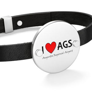 AGS Heart Leather Bracelet