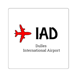 Fly IAD Square Stickers