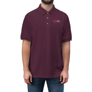 AGS Heart Men's Jersey Polo Shirt