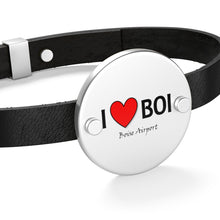 Load image into Gallery viewer, BOI Heart Leather Bracelet