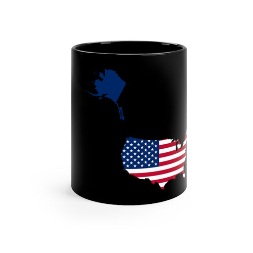 USA Black mug 11oz
