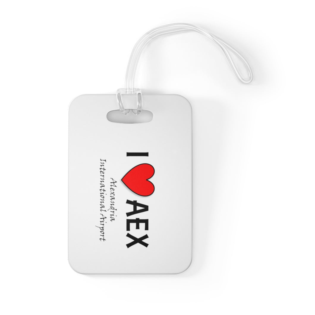 AEX Heart Bag Tag