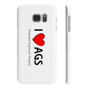 AGS Heart Wpaps Slim Phone Cases