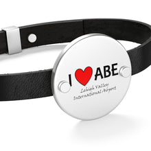 Load image into Gallery viewer, ABE Heart Leather Bracelet