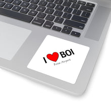 Load image into Gallery viewer, BOI Heart Square Stickers