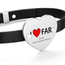 Load image into Gallery viewer, FAR Heart Leather Bracelet