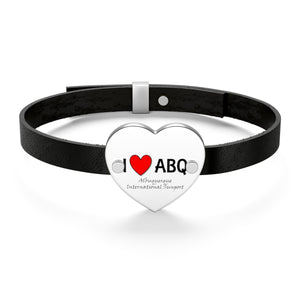 ABQ Heart Leather Bracelet