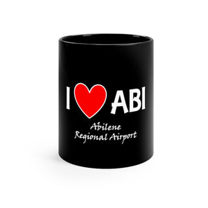 ABI Heart Black mug 11oz