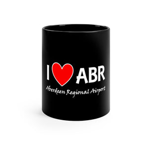 ABR Heart Black mug 11oz