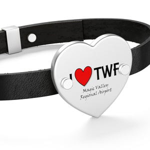 TWF Heart Leather Bracelet