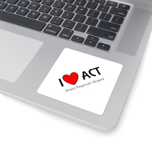 ACT Heart Square Stickers
