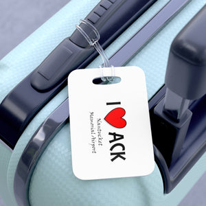 ACK Heart Bag Tag