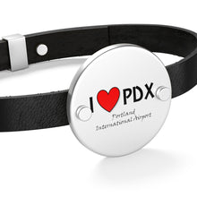 Load image into Gallery viewer, PDX Heart Leather Bracelet
