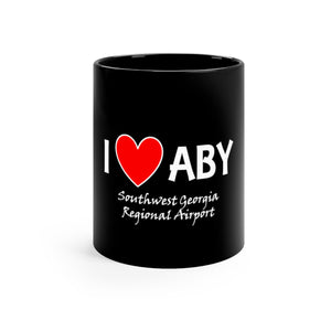 ABY Heart Black mug 11oz