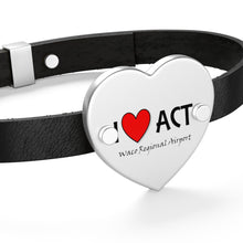 Load image into Gallery viewer, ACT Heart Leather Bracelet