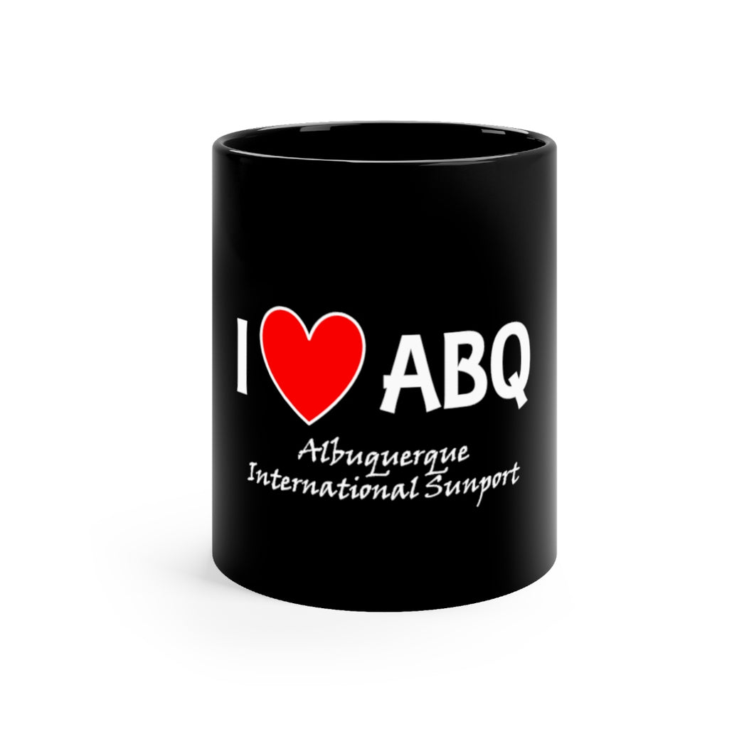 ABQ Heart Black mug 11oz