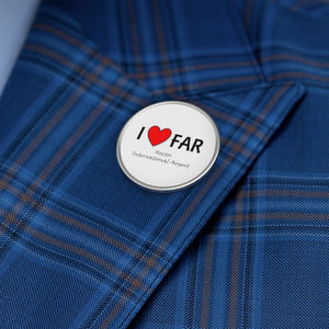 FAR Heart Metal Pin