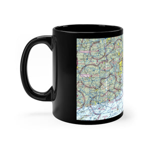 ACK Sectional Black mug 11oz