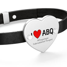 Load image into Gallery viewer, ABQ Heart Leather Bracelet