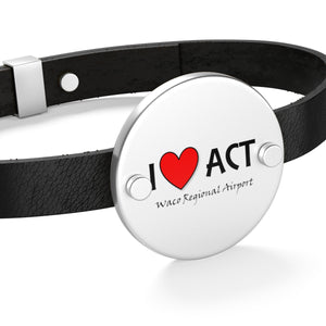 ACT Heart Leather Bracelet
