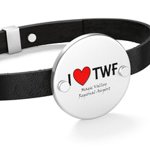 Load image into Gallery viewer, TWF Heart Leather Bracelet