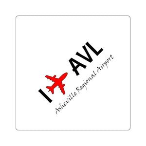 I Fly AVL Square Stickers