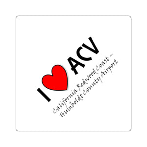 ACV Heart Square Stickers
