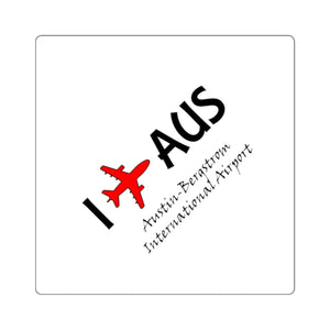 I Fly AUS Square Stickers