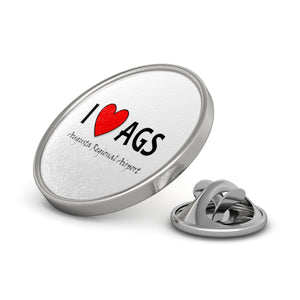 AGS Heart Metal Pin
