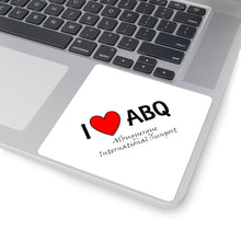 Load image into Gallery viewer, ABQ Heart Square Stickers