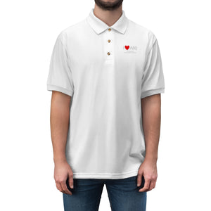 ABQ Heart Men's Jersey Polo Shirt