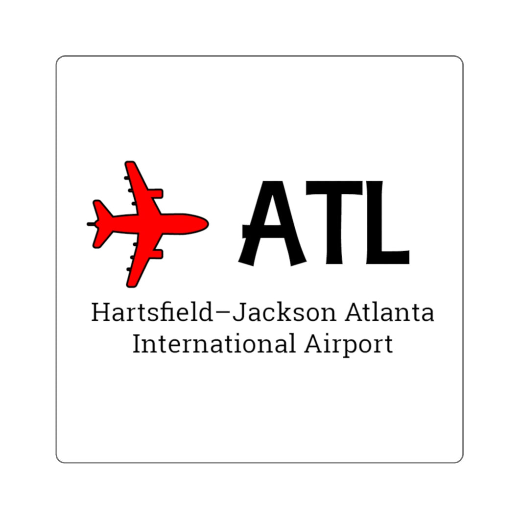 Fly ATL Square Stickers