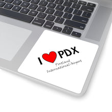 Load image into Gallery viewer, PDX Heart Square Stickers
