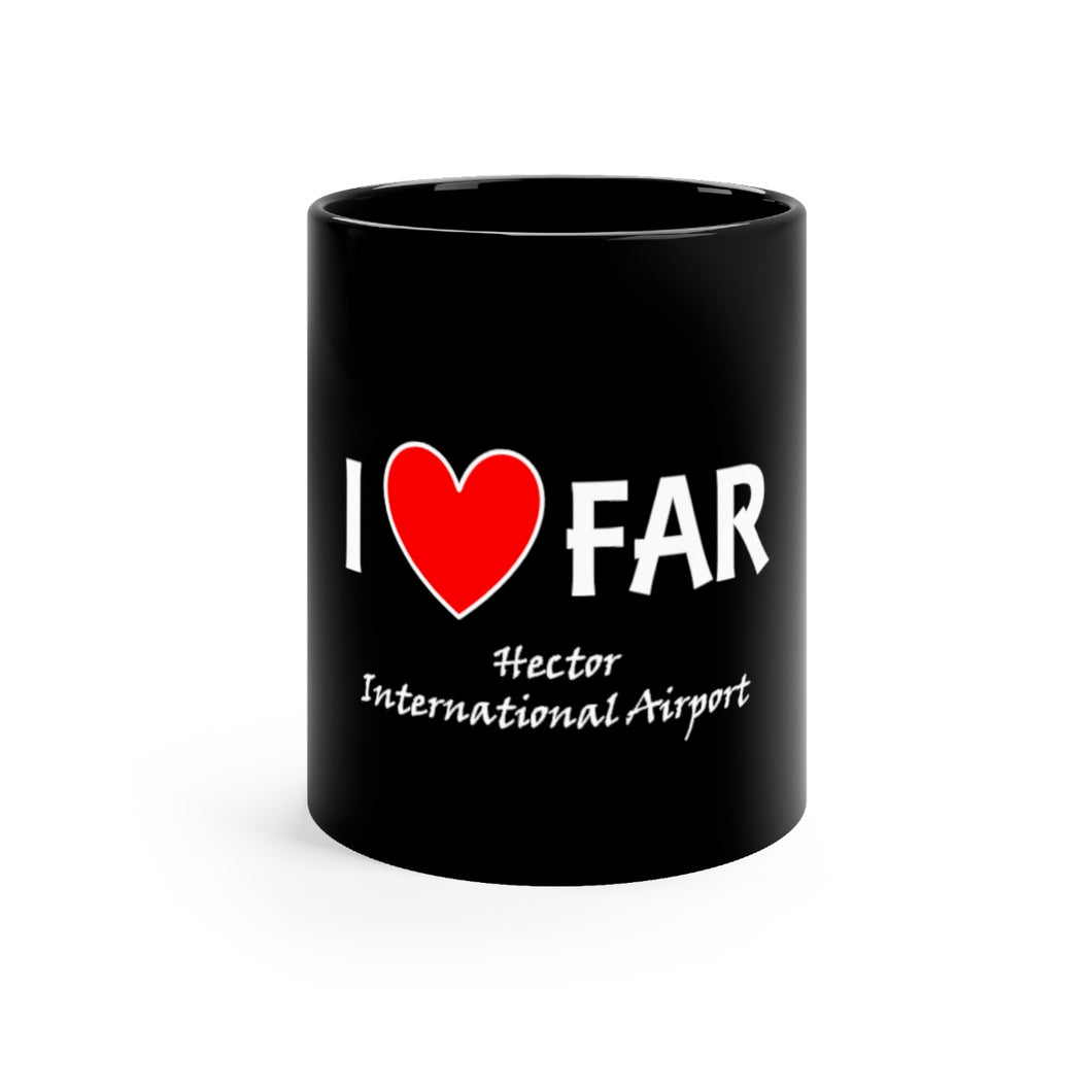 FAR Heart Black mug 11oz