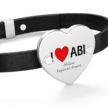Load image into Gallery viewer, ABI Heart Leather Bracelet