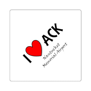 ACK Heart Square Stickers
