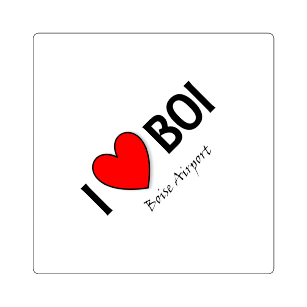 BOI Heart Square Stickers