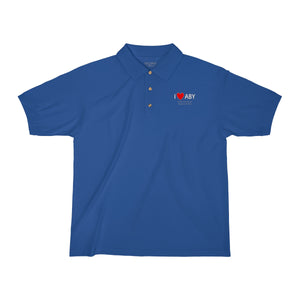 ABY Heart Men's Jersey Polo Shirt