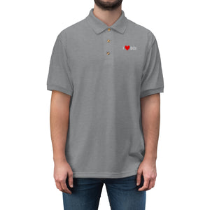 BOI Heart Men's Jersey Polo Shirt