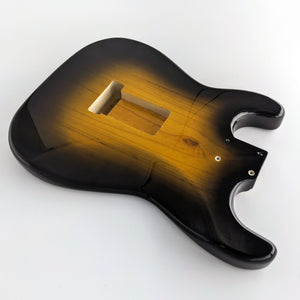 One Piece Swamp Ash 2TSB 50s Wide Sunburst SC Body, 1.7KG - Rexter Guitars