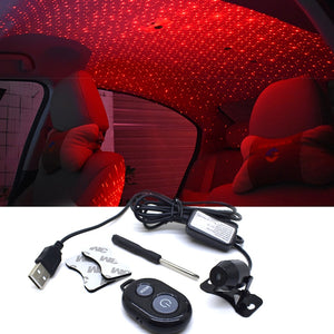 Car Styling Decoration Starry LED Light DJ Laser Projector Music With Remote Control