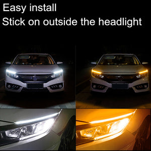 Sequential Flexible LED Running Light Strip DRL For Headlight