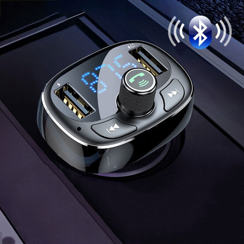 Car Fast Dual USB Mobile Charger FM Transmitter Aux Modulator Bluetooth Hands-free MP3 Player