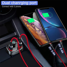 Load image into Gallery viewer, Car Fast Dual USB Mobile Charger FM Transmitter Aux Modulator Bluetooth Hands-free MP3 Player