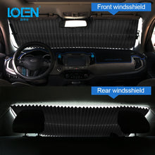 Load image into Gallery viewer, Retractable Car Front / Rear Window Sunshade Sun Protection Curtain