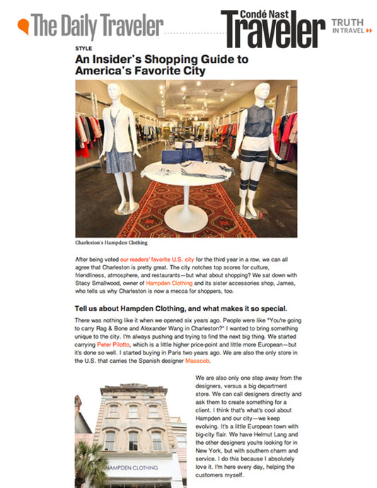 Conde Nast Traveler - The Daily Traveler - Jan 2013
