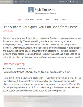 Style Blueprint - 12 Southern Boutiques You Can Shop From Home - Oct 2017