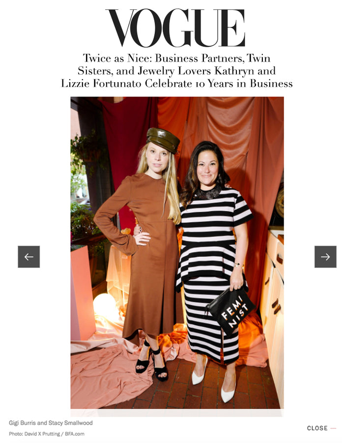 Vogue - Lizzie Fortunato's Anniversary Party - May 2018